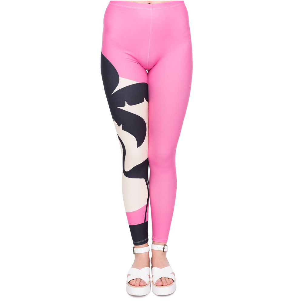 High Quality Women Legging Pink Sunset Printing Leggings Fashion Slim High Waist Woman Pants