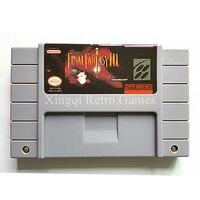 Super Nintendo SFC SNES Game Final Fantasy III Video Game Cartridge Console Card US English Version