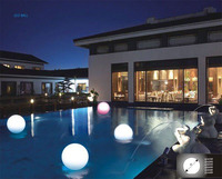 Free Shipping 20cm 7 8 Outdoor Led Light Up Swimming Pool Balls
