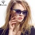 2016 Новых Женщин Бренд Дизайнер Старинные Очки Женщины полуободковые Ретро Солнцезащитные Очки Круглый Gafas Óculos-Де-Сол мужской Mujer