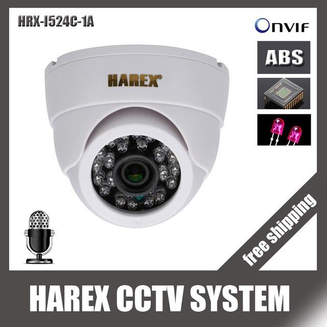 1280*720 P 1.0mp 24 шт. ИК-светодиодов IP купол Камера с аудио ONVIF Крытый ИК-Ночное видение plug and play, бесплатная доставка