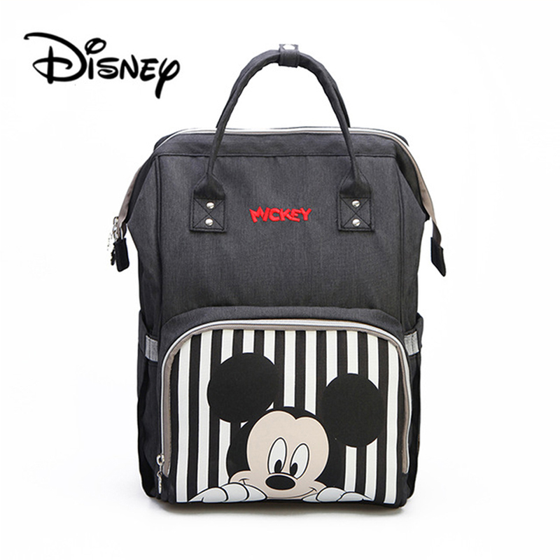 Disney Baby Diaper Bags Mickey Minnie waterproof Maternity Nappy Diaper Stroller Bag Insulation Large Capacity Mochila BackpackDisney Baby Diaper Bags Mickey Minnie waterproof Maternity Nappy Diaper Stroller Bag Insulation Large Capacity Mochila Backpack