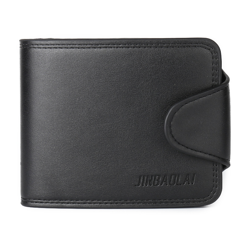 Fashion New Soft Pu Leather Mens Wallets Black Brown Solid Colors 3 Folds Short Style Credit Card Holder Bits Coin Purse Wallet
