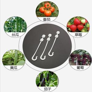 Image 2 - 50pcs! Durable Plastic plant tomato Support clip hook Grapes Connects Vines Trellis Fastener Gardening cable Farming Bundle wire