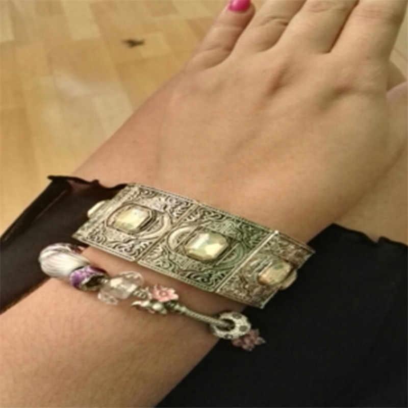 5 Terbaru Kristal Pulsera Hombre Fashion Turki Pria Ukuran Gelang Dapat Disesuaikan Manset Gelang Gelang untuk Wanita Perhiasan Aksesori