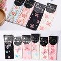 Kawaii Женская Мода Бедро Высокие Чулки Длинные девушки Хлопчатобумажные Узорчатые Чулки для Оптовой Продажи (10 Цветов)
