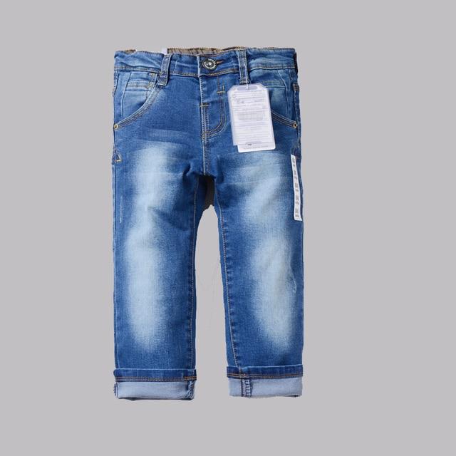 Boys pants jeans 2016 Fashion Boys Jeans for Spring Autumn Children's Denim Trousers Kids Dark Blue Designed Pants