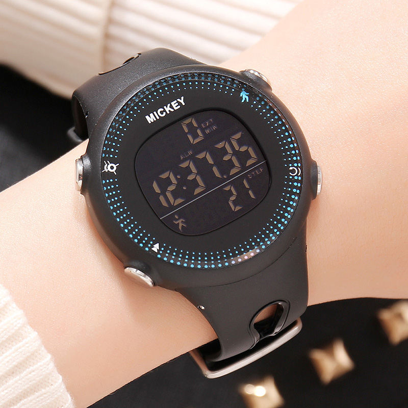 Original Disney Watch Digital Plastic Multifunction Back light Alarm Stop Watch Children Kids Student Watches Boy Clock MK-15047 sport student children watch kids watches boys girls clock child led digital wristwatch electronic wrist watch for boy girl gift