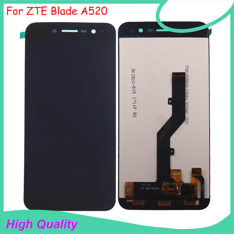 "For ZTE Blade A520 LCD Display with Touch Screen Digitizer Assembly of Original 5.0"" Mobile Phone LCD With Free Tools"