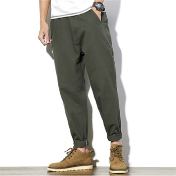 2019 summer joggers casual men's sweatpants plus fat large size fat nine pants Harlan feet men's pants hip hop streetwear M-5XL