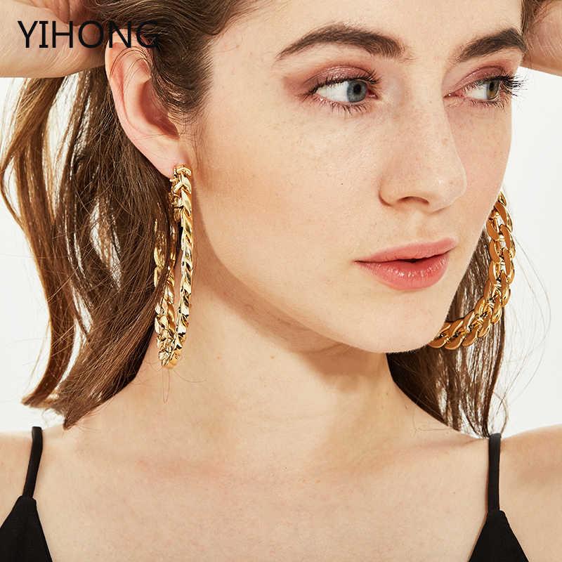 Оптовая продажа серьги-кольца большие круглые серьги-кольца вечерние серьги кремового цвета для женщин УФ-ювелирные изделия 80 мм