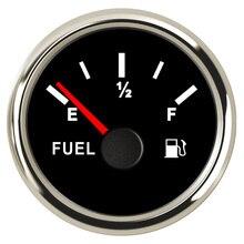 Indicador De Nível de Combustível 240 ~ 33 52mm ohm Medidor De Combustível Indicador de Nível Do Tanque de Óleo Para O Iate Barco Do Caminhão Do Carro com Backlight 9 ~ 32 v