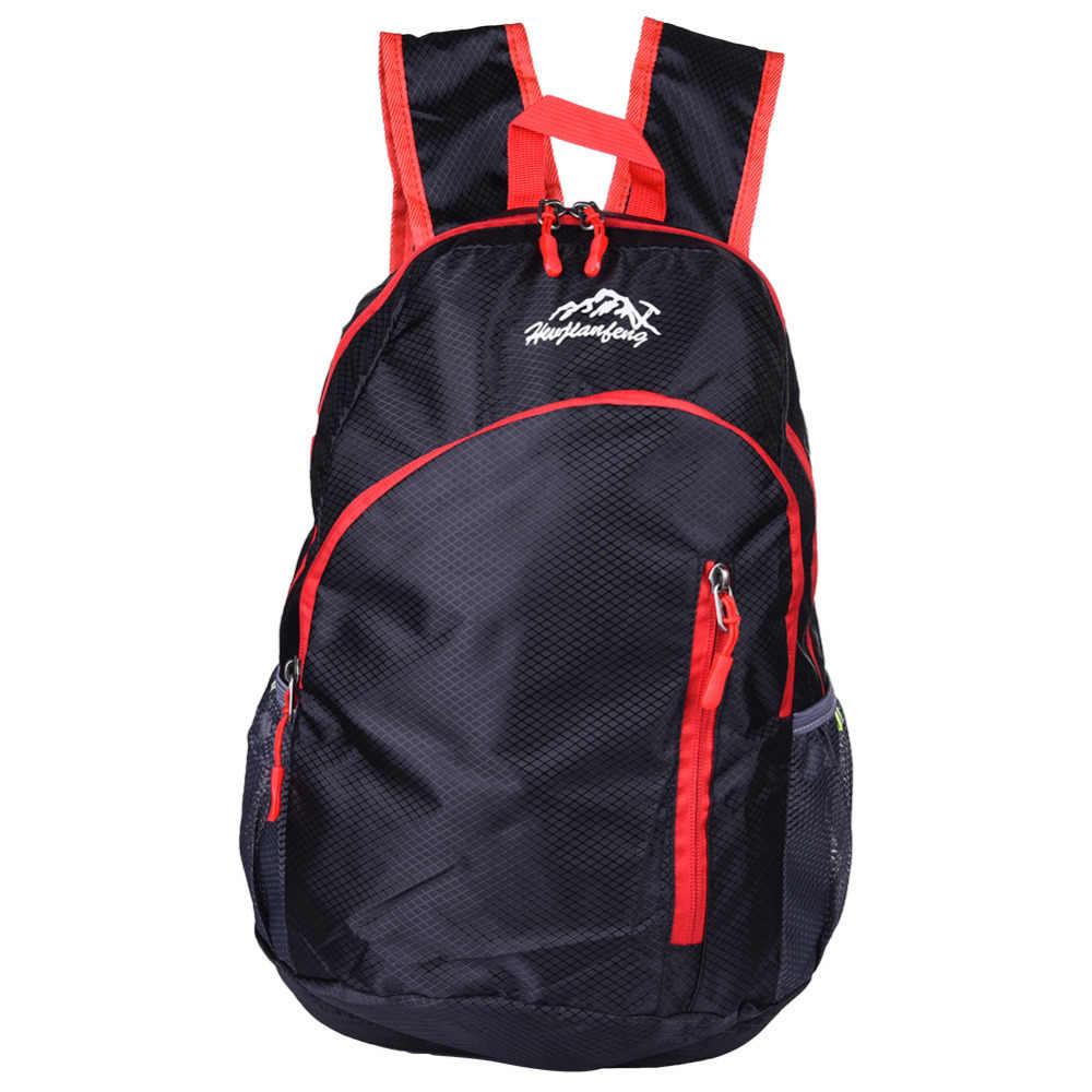 Outdoor Bag 20L Waterproof Backpack Rucksack Mountaineering Bag Women  Travel Bags Backpack Men Folding Sports Bag 647e6533fb