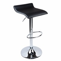 2Pcs Adjustable Bar Chair Leather Bar Stool Rotating Chair Kitchen Chair Gas Lift for home commerical Black White MAYITR