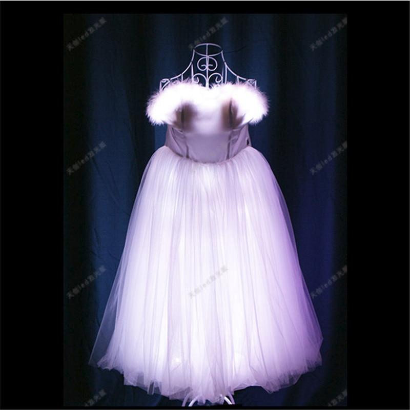 TC-170 Programmable Ballroom dance dresses wanita led kostum cahaya - Hari libur dan pesta - Foto 5