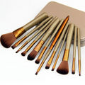 12 pcs Makeups Cosmetic Brushes Setse Powder Foundation Eyeshadow Lip Brush Tool