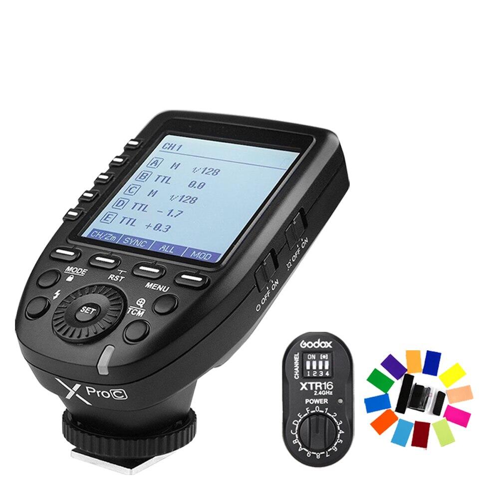 Godox XPro-C передатчик + xtr-16 приемник Flash E-TTL HSS 2.4 г Беспроводной x Системы для Canon DSLR Godox V850 v860c