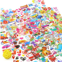5 feuilles/lot 3D bulle gonflée autocollants Waterpoof bricolage enfants garçon fille jouet Animal mixte dessin animé Mickey Cars dinosaure Spiderman(China)