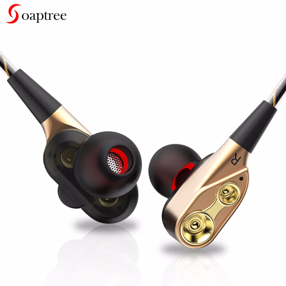 Soaptree Wired Earphone High Bass Stereo Headphone Headset In-Ear Earphones build-i Microphone Sport Computer earbuds For Phone awei wired stereo headphone with mic microphone in ear earphone for your in ear phone buds iphone samsung player headset earbuds