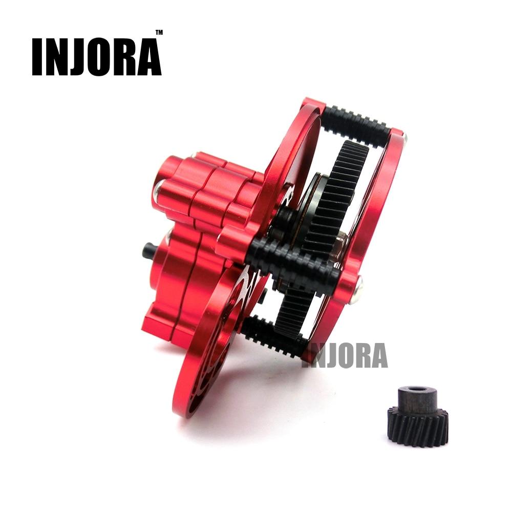 где купить 1:10 RC Crawler SCX10 Red All Metal Transmission / Center Gearbox for 1/10 Axial SCX10 Gear Box Parts по лучшей цене