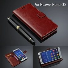 Phone Case For Huawei Honor 3X G750 Wallet Capas High Quality Ultra Thin Leather Flip Cover Fundas