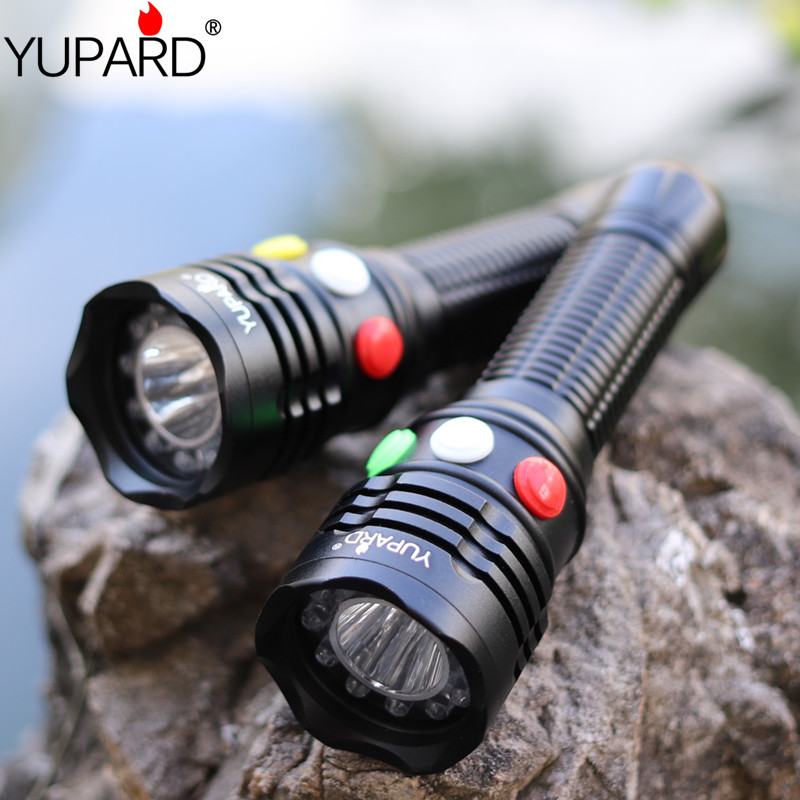 yupard red white yellow green signal light Q5 LED Flashlight LED Torch high Bright light lamp 18650 AAA Battery solutions pre intermediate student s book