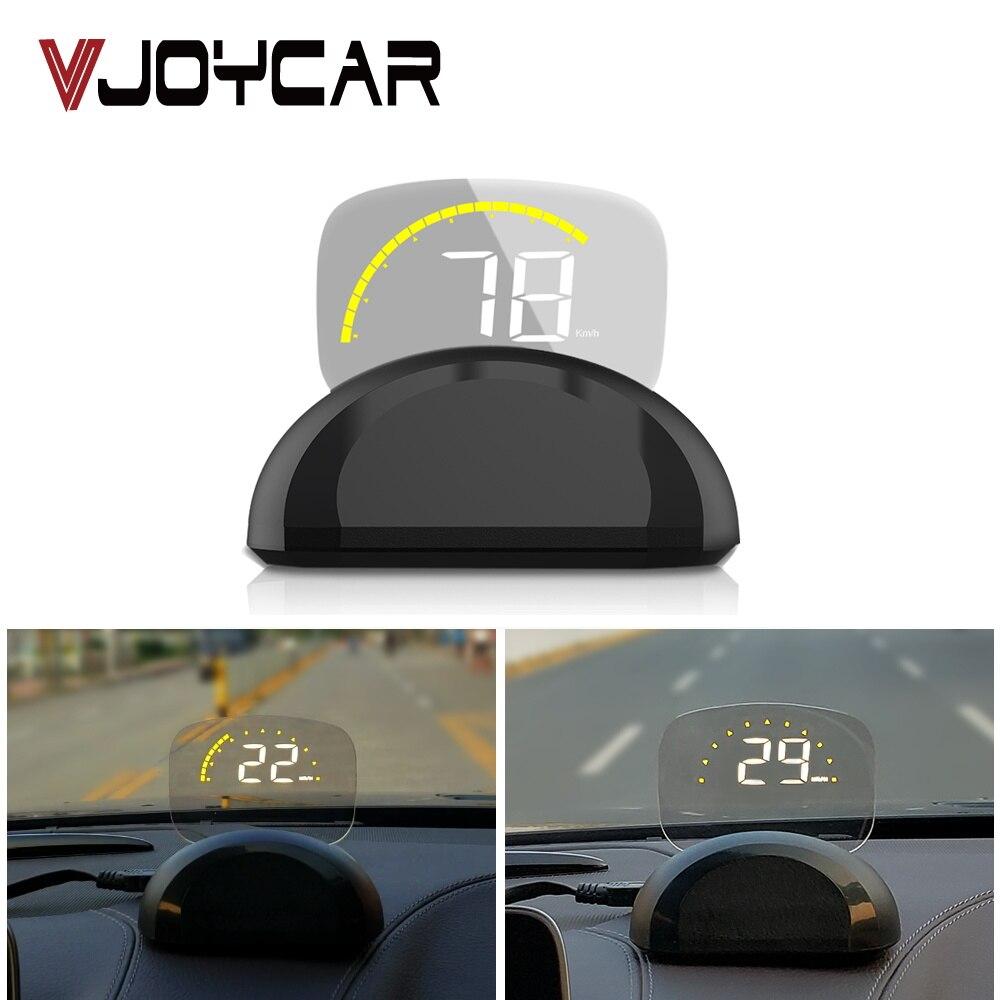 VJOYCAR New C700s Car HUD Head Up Display OBD2 II EUOBD Overspeed Warning Car Head Up Display With Mirror Digital Projection