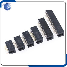 IDC Box Header DC3 Double-Row 8/10/14/16/20/26/40P JTAG Socket Connector Black 2.0mm Pitch 100% New 10pcs/lot DC3-8P/10P/14P/16(China)