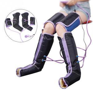 Image 2 - Luft Kompression Bein Massager Elektrische Durchblutung Bein Wraps Für Körper Fuß Knöchel Kalb Therapie Hosenträger Unterstützt