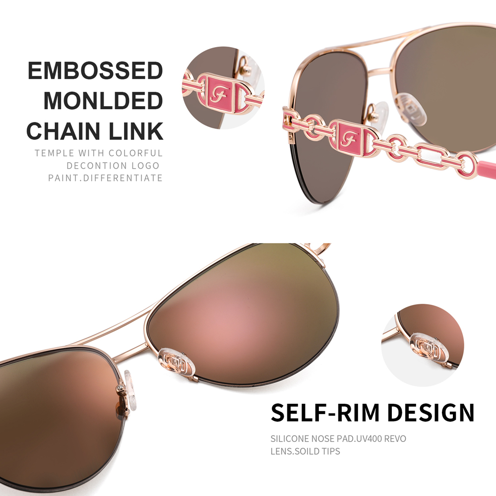 FENCHI sunglasses women uv 400 oculos female glasses sun glasses mirror Pilot Pink feminino zonnebril dames gafas de sol mujer 5