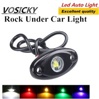 One Pair 2inch 9W LED Rolling Rock Light For Jeep Car Truck Boat Yacht Chassis Lights