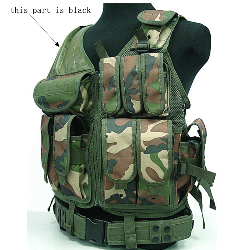 Gilet militare per caccia e softair con fondina ACU Camo