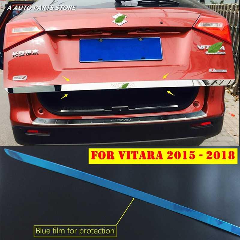 ステンレス鋼リアトランクテール尾底蓋ストリーマカバートリム 1 個シルバースズキ Vitara 2015- 2019