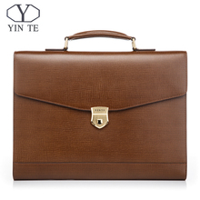 New Fashion Men Genuine Leather Briefcase High Quality Laptop Office Bag Lawyer Messenger Handbag Teacher Business