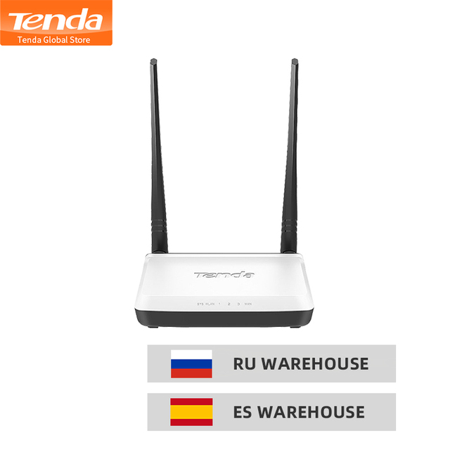 Tenda N300 Wireless Router, 2 * 5dbi 300Mbps Wi Fi Repeater,support WISP/Universal Repeater/AP Mode/Wireless switch, Easy Setup
