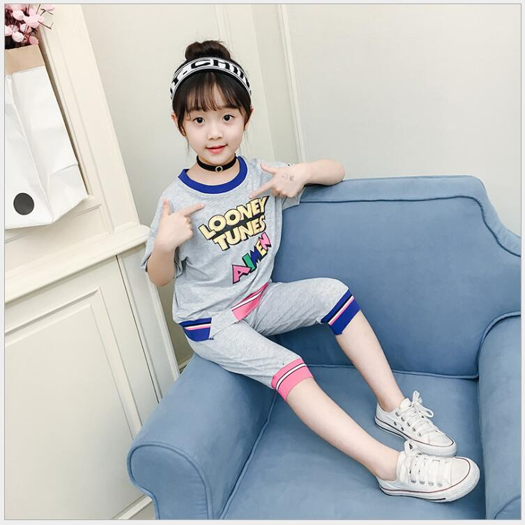 girls tracksuit sports suit for a girl summer teenage clothes kids girls tracksuit complete sets of clothes for girls
