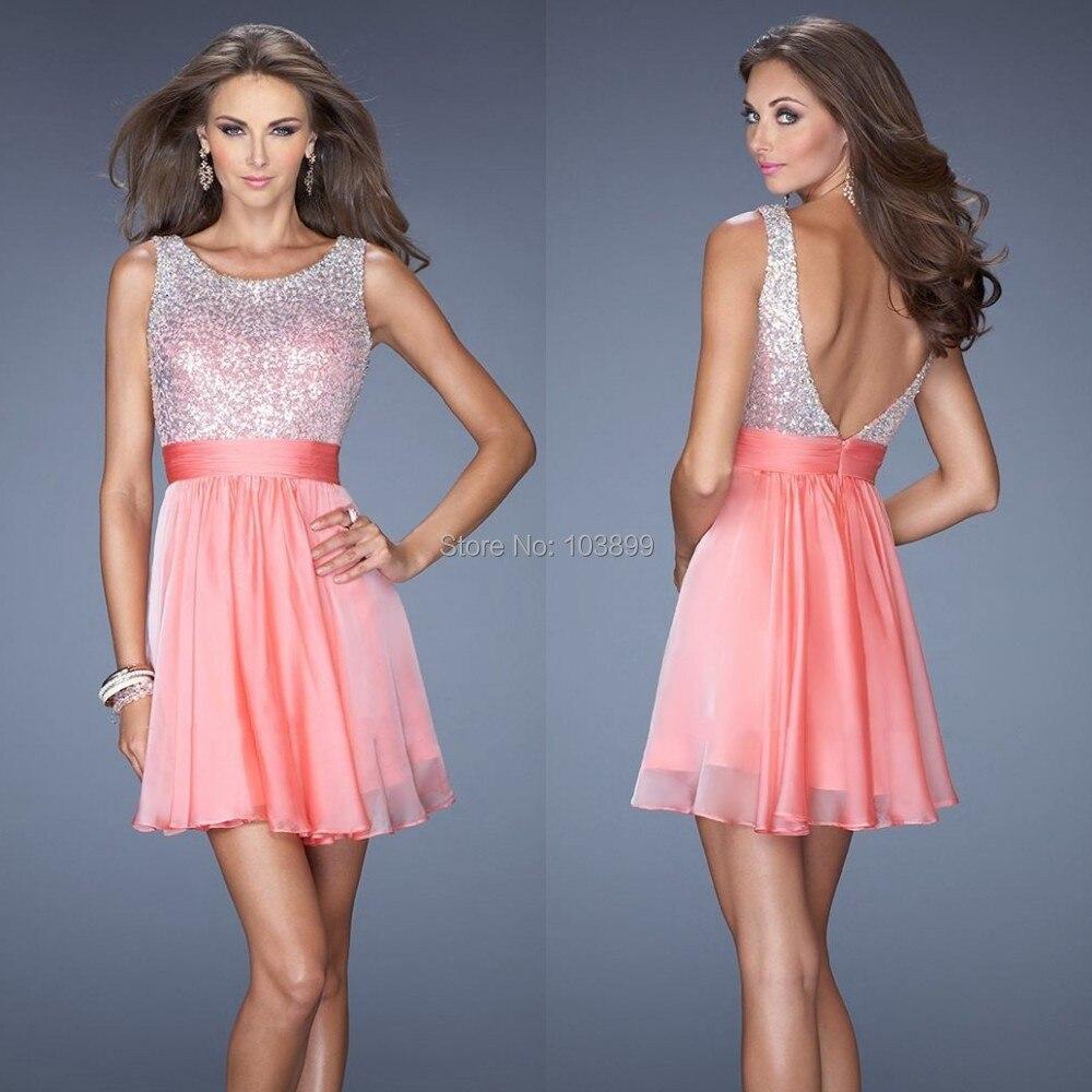 Lujoso Con Un Vestido Corto En Prom Regalo - Ideas de Vestido para ...