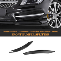CLA Class Carbon Fiber front lamp decorations molding trim for Mercedes Benz C117 CLA250 CLA200 Sedan 2013 2014 2PCS