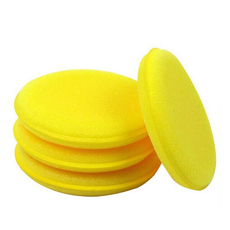 12pcs Waxing Polish Foam Sponge Applicator Pads for Cars Vehicle Glass (Yellow)