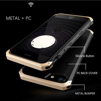 Dla etui do iPhone Metal aluminium granicy twarde etui tylne z poliwęglanu dla iPhone X XS Max XR 6 6 S 7 8 Plus dla samsung Galaxy S8 S9 Plus