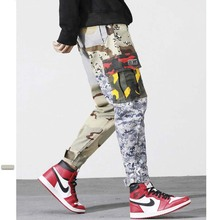 hot deal buy hip hop pants mens pants fashions cargo pants cotton joggers pants camouflage military army streetwear harem trousers clothes
