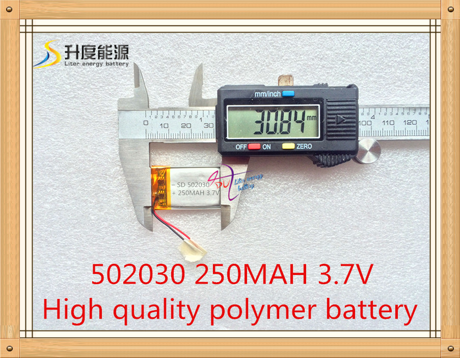 Free shipping 3.7V lithium polymer battery 052030 502030 250mah MP3 MP4 MP5 toy polymer lithium battery