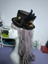 Retro Brown Luxury Flower & Feather Sweet Bow Mini Top Hat Punk Steampunk Lolita Cosplay Hat Fedoras Hat