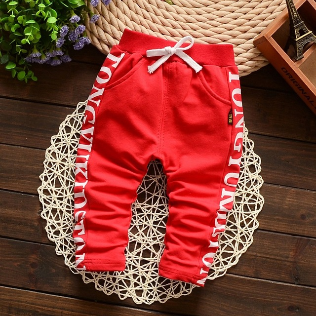 New 2016 Spring Lovely Letter Fashion Boy Newborn Pants Baby Boy Pants Cotton Children's Pants Baby Clothing Autumn 7-24M