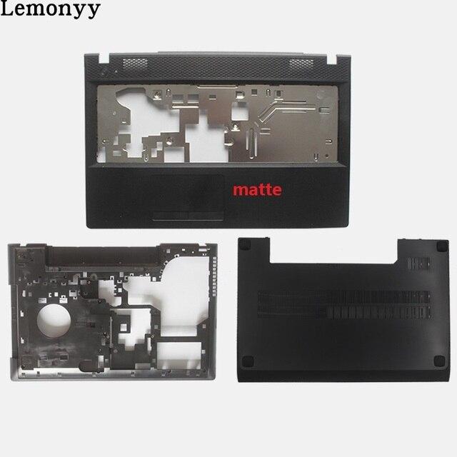 חדש עבור Lenovo G500 G505 G510 G590 מחשב נייד קדמי כיסוי Palmrest כיסוי/מקרה תחתון בסיס כיסוי/מקרה נייד כיסוי אחורי שחור