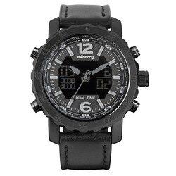 Piechoty zegarek wojskowy mężczyźni LED cyfrowy kwarcowy zegarek sportowy dla mężczyzn stoper armia skórzane męskie zegarki Top marka luksusowe