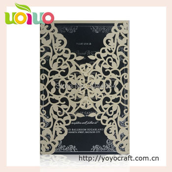 Exquisite customized wedding Invitation Card with high quality laser cut simple invitation card for wedding and party favors