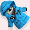 2017 New Fashion Girls Character Smiling Coat Children's Cotton Jackets Kids Winter Coats Jackets Thickening Outerwear