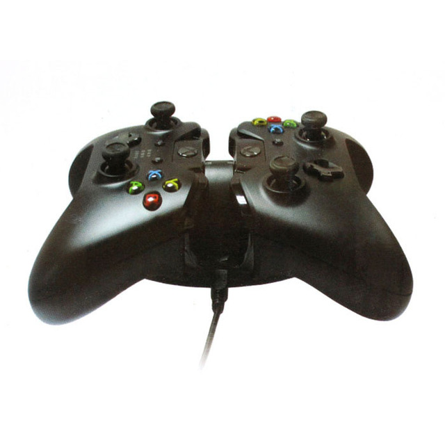 Beautiful Gift Brand New Dual Charging Dock Charger Charge Base for Xbox One Controller Black Free Shipping Apr27