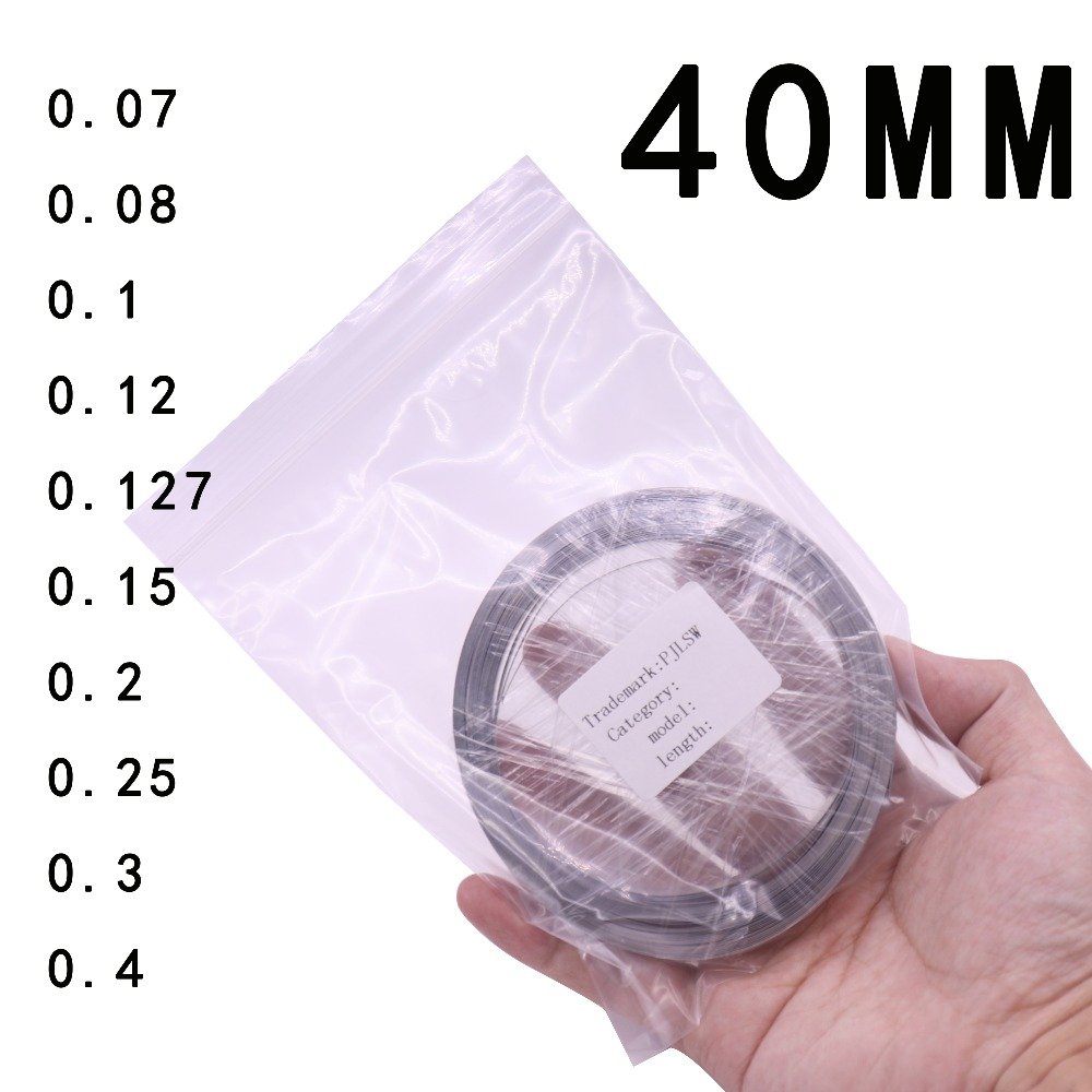 Width 40MM Battery-specific nickel sheet Thickness optional Customizable Length 10M 18650 For Spot Welder Machine wholesale 504260 3 7v lithium polymer battery length 60 width 42 thickness 5mm